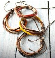 Bracelets Fashion jewelry popular fashion for women unisex multi layers lucky PU leather cord design