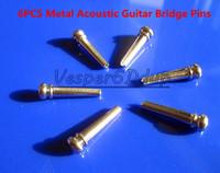 Free Shipping NEW 6PCS Metal Acoustic Guitar Bridge Pins Guitar Pressure Locking String Nails Pins Silve