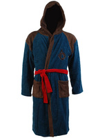 Men Blue assassins creed Bath Robe Cosplay Costume Coral Fleece Hoodie Gown Cotton