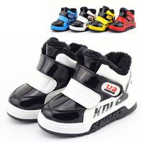 2014 winter new Korean fashion big warm cotton padded shoes snow boots soft bottom Children