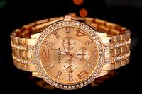 Women Quartz Watch Geneva Women Rhinestone Watches Stainless Steel Watch Crystal Shiny Lady Wristwatch Relogio Feminino AE054
