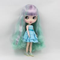 11.5 inch doll B female doll bjd 1/6 Princess doll Nude cute big eyes doll blue purple double bangs doll