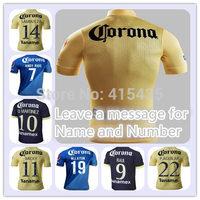 thai quality Mexico club 14 15 America jersey soccer home away M LAYUN RAUL SAMBU L G REY R JIMENEZ 2015 Player version