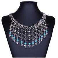 Fashion necklace 2014 women Europe and America Bohemia tassel choker necklace