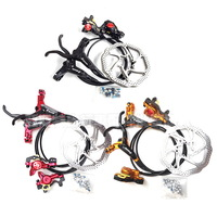Free shipping, ZOOM HS1 Bike Hydraulic Disc Brake,Oil Disc Brake,Front+Rear+2pcs disc,For Mountain bike, Bicycle parts, 1set