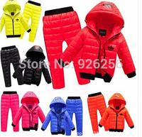 Children's wear winter suit two piece upset children suit children's quilted jacket cotton-padded clothes in winter