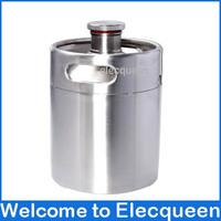 2L 64OZ New 304 Stainless mini keg growler,thread mouth keg,Beer Making