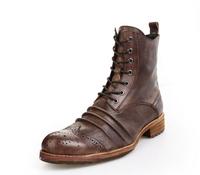 Men's winter boots genuine leather male flat heels EUR size 38-43 black color man shoes high quality men boots warm non-slip 4