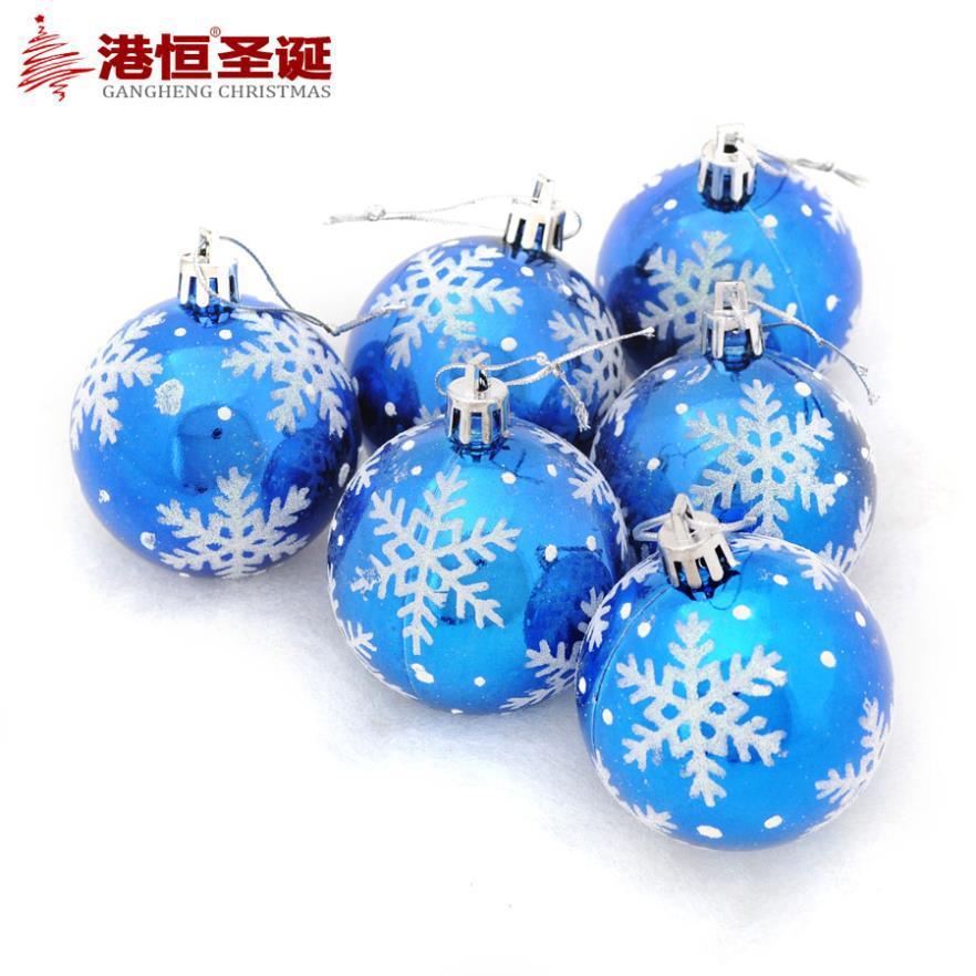 Christmas tree decorations 6 cm snowflake light blue colored christmas