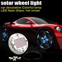 4pcs/lot Car Styling Auto Air Cover Solar Lights 4 Modes Colorful Waterproof Flash Tire Wheel Valve Caps Decorative Light #4509