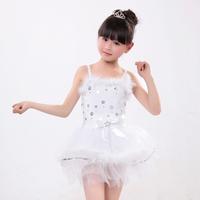 Children Dance Tulle Dress Girl Ballet Tutu Suspender Dresses Fitness Performance Gymnastics Leotard for Women Costume LD016