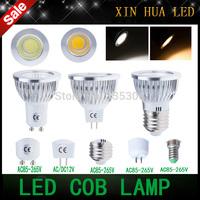 High quality GU10 MR16 GU5.3  E27 E14 6w 9w 12w 85-265v 12V COB dimmable Spotlight led light  cob lamp  bulbs warm/cool white