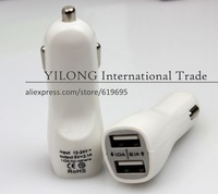 Free Shipping  500pcs/lot  The Best Selling Duck Mouth Car Charger 5V 2.1A General Double USB Car Charger Wholesale