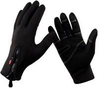 Deluxe Outdoor Sports Cycling Bike Windproof Waterproof Windstopper Fleece Warm Gloves Black Men