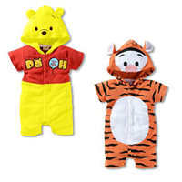 Fashion Style!Summer Style Short-Sleeve Romper Hot Sale Infant Jumpsuit Tiger Bear Fashion Suitable 0~24 Month