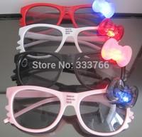 Free Shipping 4 colors Strobe LED glasses flashing glasses Party Supplies Decoration glasses 30pcs/lot