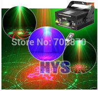 AC110V-240V Professional 3 lens 40 patterns laser lamp bar KTV stage lighting Fancy Mini Projector RGB DJ Disco party Light