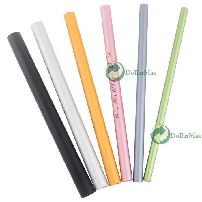DollarMax Great deal 6 X Acrylic UV Nail Art French Tip Tool Curve Rod Stick Fabulous!(China (Mainland))