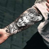 1pc/lot/AX27,Armband Temporary Tattoo/Mysterious Women Buddha/waterproof Big size fake tatoo sticker art/Arm,Armband,shank,Chest