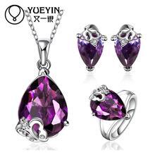 FVRS008 2015 new fine jewelry sets Extravagant Party jewlery set for lady Fashion Big Crystal set