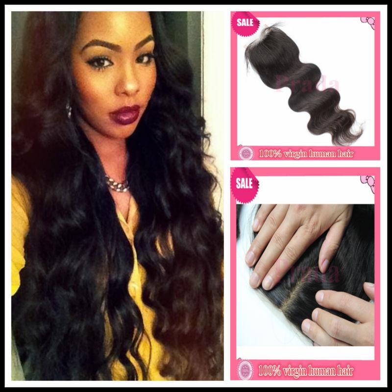 Cheap Deals Silk Closure King Hair Silk Base Closure Brazilians Hair Wet and Wavy Long Time Perm 4x4 baby Hair Skin Natural GS(China (Mainland))