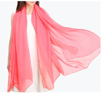Chiffon and scarf  Watermelon red