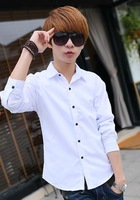 The new autumn and winter plus thick velvet long-sleeved shirt Slim Korean men's casual warm shirt 00119