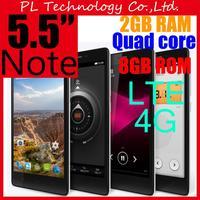 "Note 4G FDD LTE Mobile Phone Dual SIM Note Enhanced MTK6582 Quad Core 5.5""HD 13.0MP 2G RAM 8G ROM 2* 3200 mAh Battery free ship"