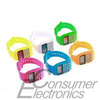 1Pcs Cute Children Multi-Purpose Electronic Silicone Date Wrist Calculator Watch Newest