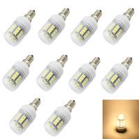 Energy-saving E14 E12 E27 G9 GU10 27x5050 SMD Warm White LED bulb AC 220V 240V LED Lamp High Quality LED lamp Tubes 10pcs/lot