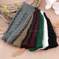 1Pair Fashion Unisex Men Women Knitted Fingerless Winter Soft Warm Mitten Gloves 6 colors Drop Shipping