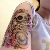 1pc/lot/AX33,Temporary Tattoo Hand/Skull,Rose,pocket watch/waterproof Big size fake tatoo sticker art/Arm,Armband,hand,Back