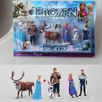 6pcs set  Frozen Figure Play Girls Toys Anna and Elsa Sven Olaf Hans Kristoff Cartoon Doll ,Kids Girls Princess Toys Top Quality