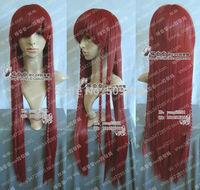 FSX5985Q>>Fashion Long Dark Red Cosplay Party Wig/Hairs 100cm