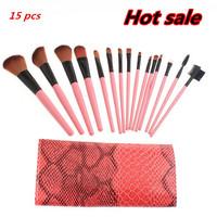 Professional 15 Pcs 15Pcs Make Up Brushes Makeups Facial Cosmetics Kit Beauty Bags Set Makeup