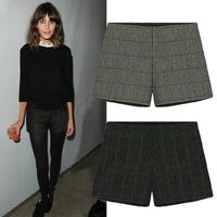 plus size cargo shorts all-match plaid woolen suit pants casual shorts women