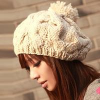 Handmade pumpkin hat sphere thermal sweet knitted yarn winter hat female