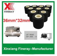 240 pcs per carton  XJ type 36mm*32mm on batch number printer coder ink rolls