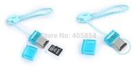 Free Shipping Portable mini tf card reader Mini usb 2.0 card reader for micro sd /tf card JIMEI-007676