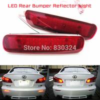 2XRed Lens SMD LED Rear Bumper Reflector Tail Brake Stop Light DRL Fog Lamp for Lexus LX470 Toyota Land Cruiser