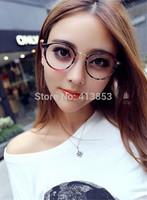 Retro Glasses Women Eyewear Vintage Round Clear Lens Frame Metal Legs High Quality Unisex Plain Glasses Eyeglasses A117