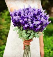 free shipping purple  Wedding supplies Bride holding flowers wedding photography props simulation wedding room decoration