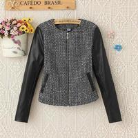 Boutique new desigual 2015 spring autumn fashion women clothing outwear coat,long sleeve O-neck slim zipper casual jacket coats