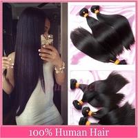 4pcs/lot Wowigs Virgin Hair 6A Brazilian Virgin Hair Straight Human Hair Weave Bundles Virgin Brazilian Hair Free Shipping