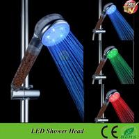 SDS-A23T Temperature Sensor 3 Color Changing Rainfall LED Shower Head Lighting Bathroom Shower Water Saving Bath Shower