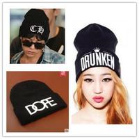 Punk Korean style hip hop cap wool turtleneck caps BOY men and women knitting hat Warm Beanie