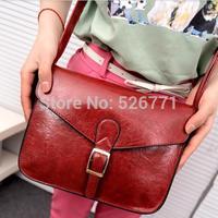 2014 new vintage Candy-colore women leather handbag shoulder bag crossbody clutch bag female small mini bag