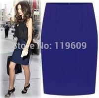 Women Skirt 2015 Spring Suit Skirt Work Career OL Skirts Mid Waist Summer Formal A-Line Skirt  Free Shipping