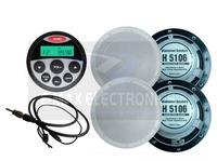 Waterproof SPA Sound System Marine Stereo Radio for Tractor AM FM UTV ATV MP3 USB Player + 6 inch marine Speaker+ Radio Antenna