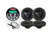 Waterproof UTV ATV Sound System for SPA Tractor Marine Radio Stereo MP3 USB  Player + 6.5 inch marine Speaker + Radio Antenna